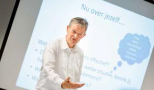 Wim Harrijvan in actie als trainer